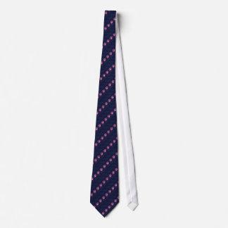 Amethyst Round Gemstone Pattern Tie