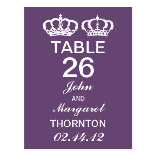 Amethyst Royal Couple Table Numbers Postcard