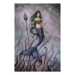 Amethyst Sea Mermaid Poster Print by Molly