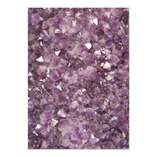 Amethyst Semi Precious Stone Invitation