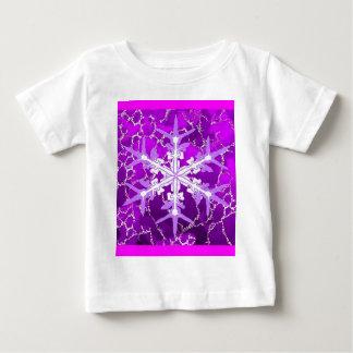 Amethyst Snowflake for Feburary Babies by Sharles Baby T-Shirt