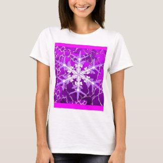 Amethyst Snowflake for Feburary Babies by Sharles T-Shirt