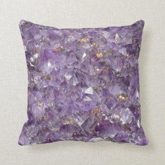 Amethyst Sparkles Throw Pillow