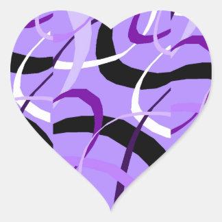 Amethyst Spheres Sticker Heart