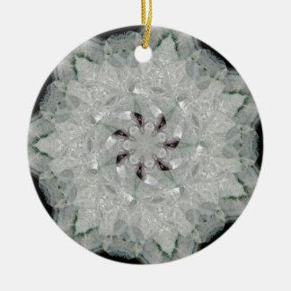 Amethyst Spinning Star Nov 2012 Double-Sided Ceramic Round Christmas Ornament