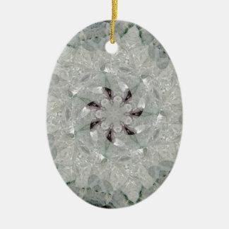 Amethyst Spinning Star Nov 2012 Double-Sided Oval Ceramic Christmas Ornament