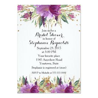 Amethyst Spring Floral Bridal Shower Card
