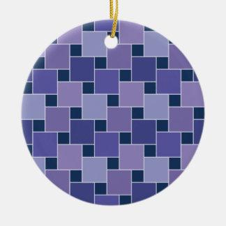 Amethyst Squares Ceramic Ornament