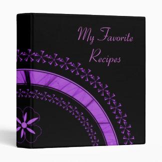 Amethyst Star Arc Recipe Book 3 Ring Binder