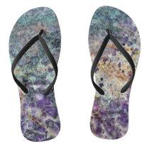 amethyst stone texture pattern rock gem mineral am flip flops