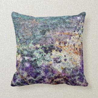 amethyst stone texture pattern rock gem mineral am throw pillow