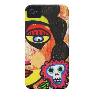 Amethyst Sugar Skull Mexican Woman iPhone 4 Cover