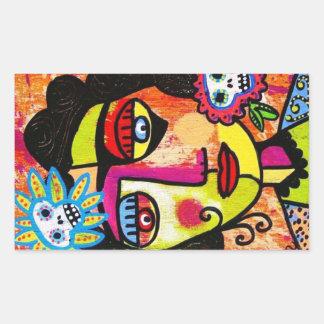 Amethyst Sugar Skull Woman Sticker