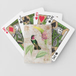 Amethyst Throated Hummingbird Playing Cards
