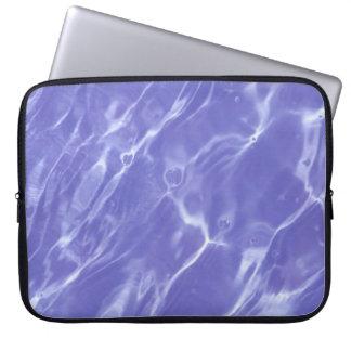 Amethyst Water Ripples Neoprene Laptop Sleeve