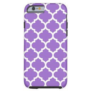 Amethyst White Moroccan Quatrefoil Pattern #5 Tough iPhone 6 Case