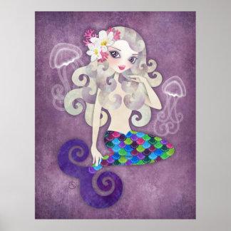 Amethyste Mermaid Poster