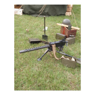 Ametralladora de la Segunda Guerra Mundial Membrete A Diseño