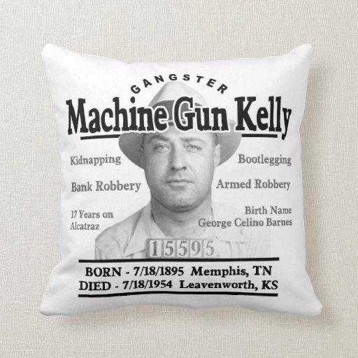 Ametralladora del gángster Kelly Cojín