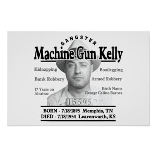 Ametralladora del gángster Kelly Póster