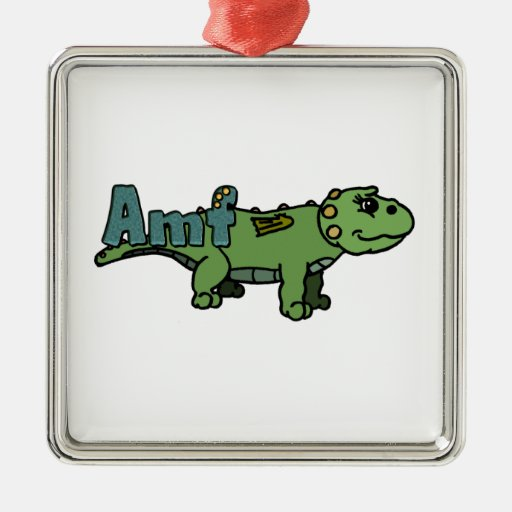Amf (with name) metal ornament
