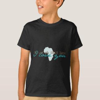 """Amharic etíope """"te amo"""" camisa"""