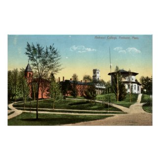 Amherst College Repro Vintage 1912 print