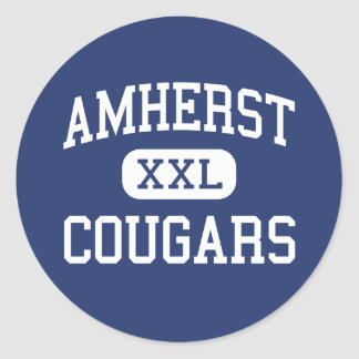 Amherst - Cougars - Junior - Amherst Virginia Classic Round Sticker