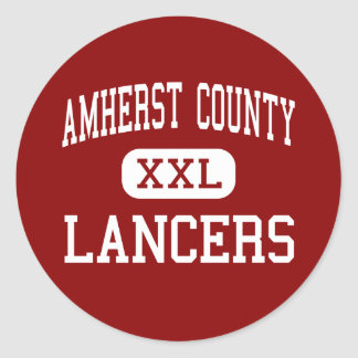 Amherst County - Lancers - High - Amherst Virginia Classic Round Sticker