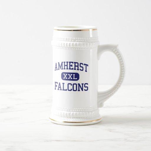 Amherst - Falcons - alto - Amherst Wisconsin Jarra De Cerveza