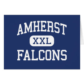 Amherst - Falcons - High - Amherst Wisconsin Greeting Card