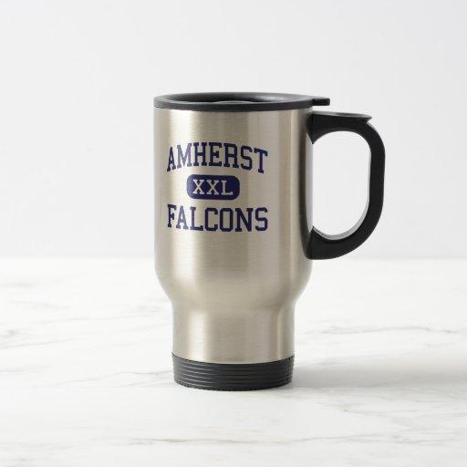 Amherst - Falcons - High - Amherst Wisconsin 15 Oz Stainless Steel Travel Mug