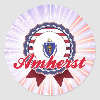 Amherst, MA Round Stickers