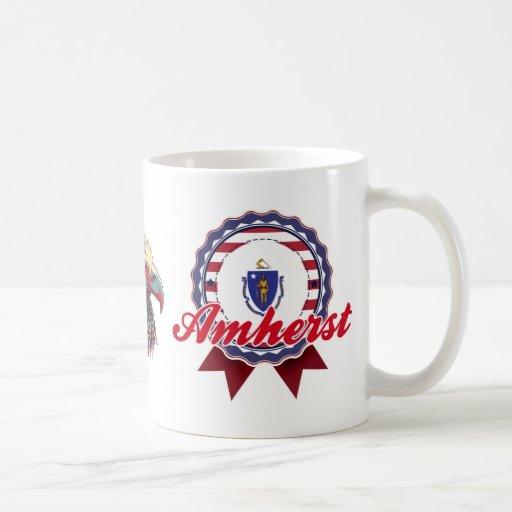 Amherst, mA Taza Básica Blanca
