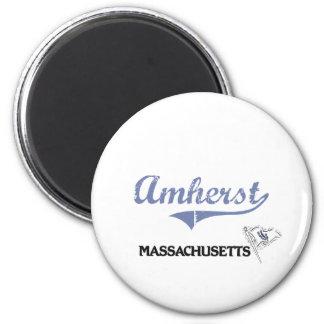 Amherst Massachusetts City Classic 2 Inch Round Magnet