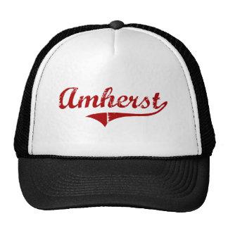 Amherst Massachusetts Classic Design Trucker Hat