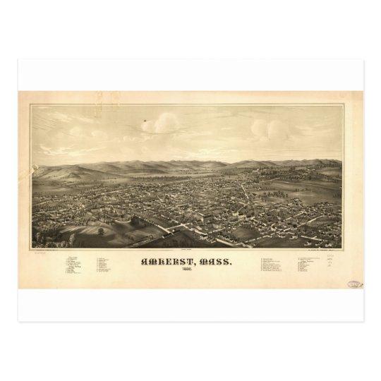Amherst, Massachusetts in 1886 Postcard
