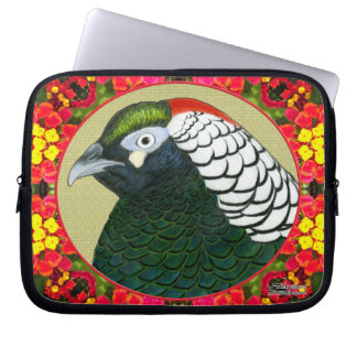 Amherst Pheasant and Flowers Computer Sleeve