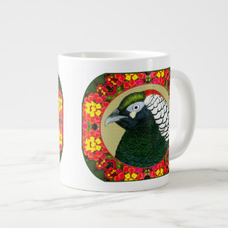 Amherst Pheasant and Flowers Giant Coffee Mug