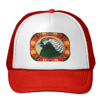 Amherst Pheasant and Flowers Trucker Hat