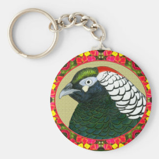 Amherst Pheasant and Flowers Keychain