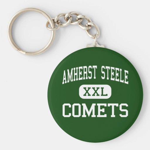 Amherst Steele - Comets - High - Amherst Ohio Basic Round Button Keychain
