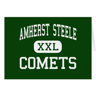 Amherst Steele - Comets - High - Amherst Ohio Greeting Card