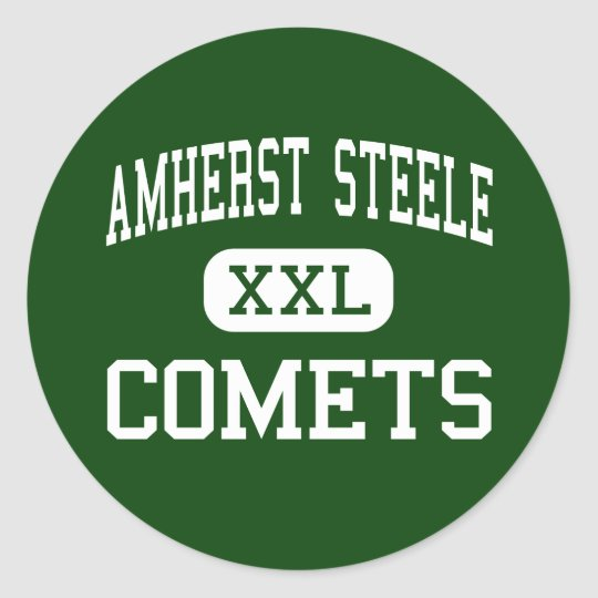 Amherst Steele - Comets - High - Amherst Ohio Classic Round Sticker