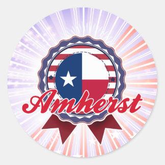 Amherst, TX Round Stickers