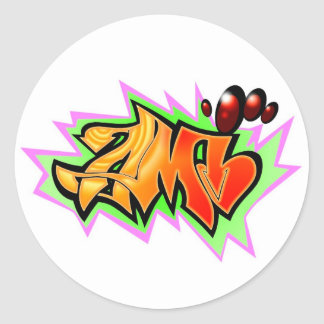 ami 2 classic round sticker