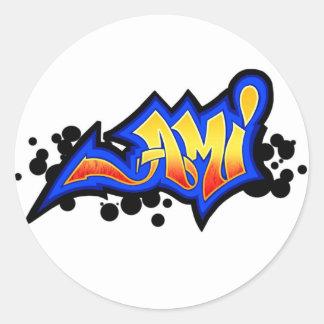 ami classic round sticker