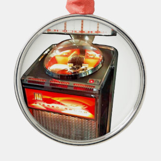 AMI Continental 2 Jukebox Round Metal Christmas Ornament