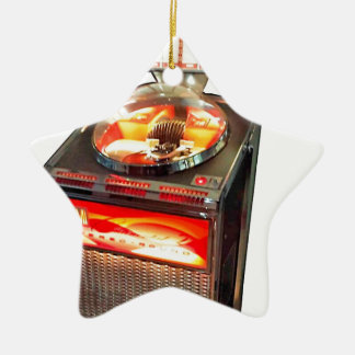 AMI Continental 2 Jukebox Double-Sided Star Ceramic Christmas Ornament