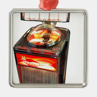 AMI Continental 2 Jukebox Square Metal Christmas Ornament